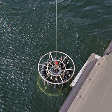 """Mokslinių tyrimų laivas """"Mintis"""" vykdė Būtingės naftos terminalo aplinkos monitoringo darbus"""