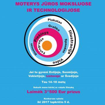 """Tarptautinis kūrybos darbų konkursas jaunimui: """"Moterys jūros moksluose ir technologijose"""""""